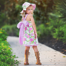Haute Baby  Summer Blooms Dress