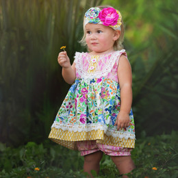 Haute Baby  Floral Fantasy 2pc Short Set