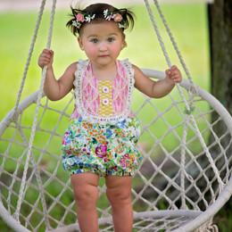 Haute Baby  Floral Fantasy Sunsuit Romper