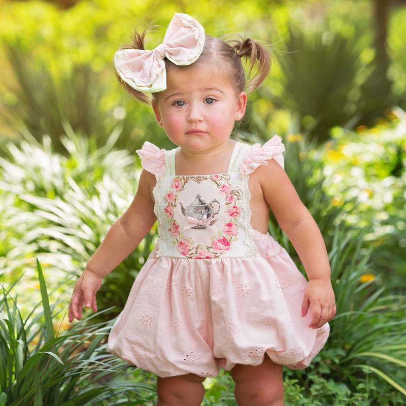 df5e92dfc75f Home · Girls · Styles · Rompers   Overalls  Haute Baby Let s Pretend Tea  Pot Bubble Romper. Image 1