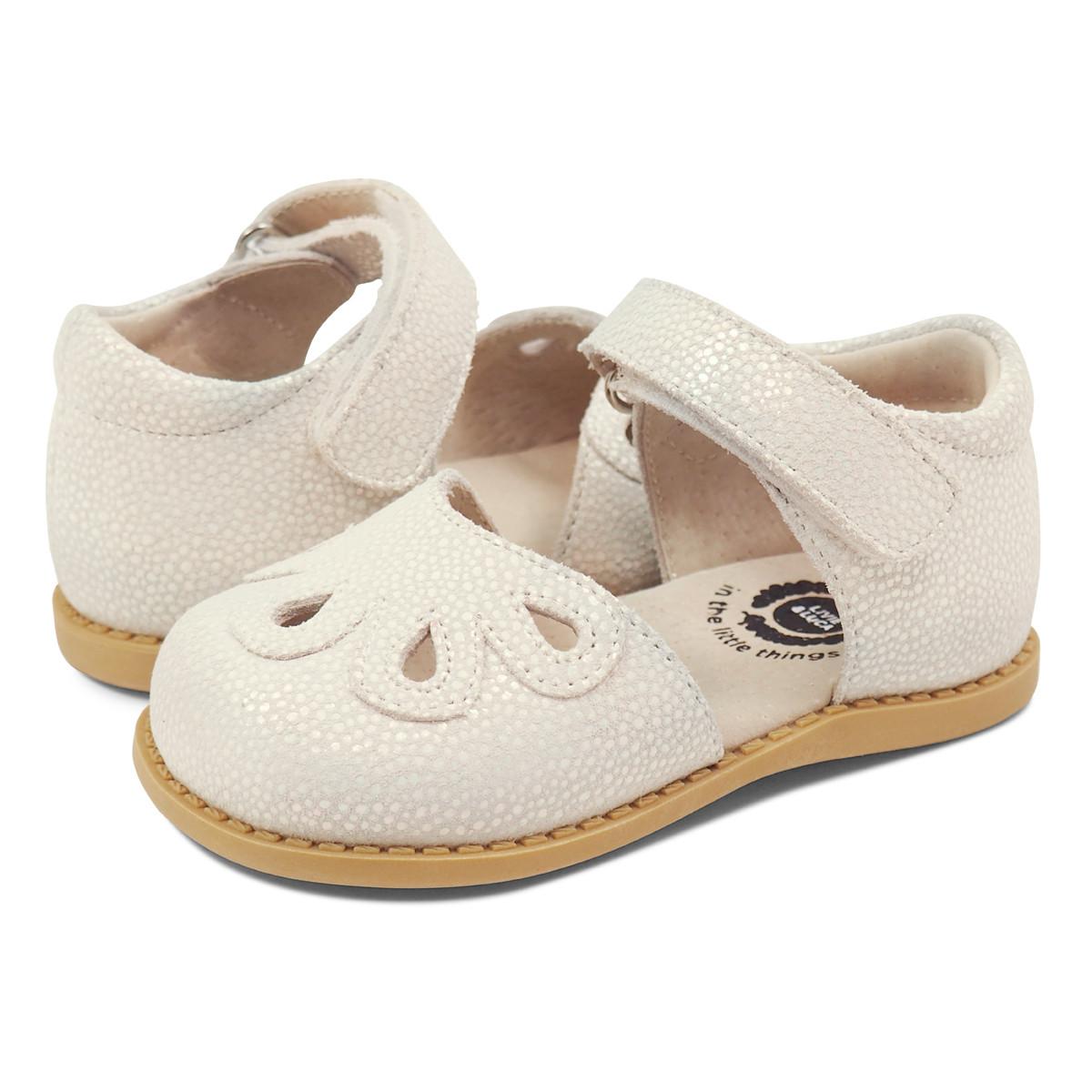 Livie \u0026 Luca Petal Shoes - White Opal