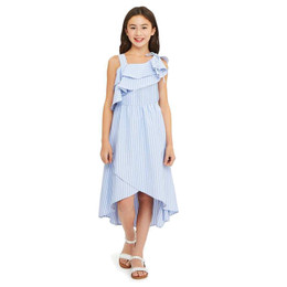 Habitual Girl Olympia Hi/Lo Dress - Stripe