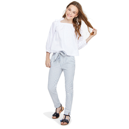 Habitual Girl Dawson Paper Bag Pant - Stripe