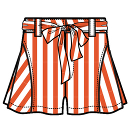 Habitual Girl Tegan Stripe Short - Orange