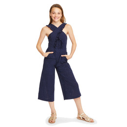Habitual Girl Mila Crisscross Jumpsuit - Navy