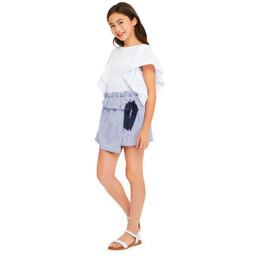 Habitual Girl Zelie Wrap Skort - Stripe