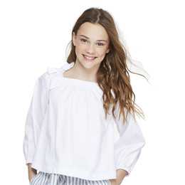 Habitual Girl Ava Tie Shoulder Top - White
