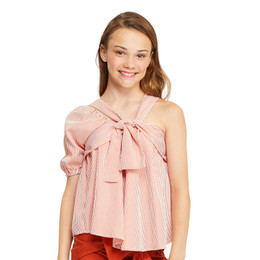 Habitual Girl Lottie One Shoulder Top - Light Peach