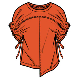 Habitual Girl Kenna Asymetrical Top - Orange