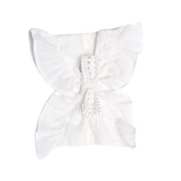 Isobella & Chloe Cotton Clouds Hard Headband - White