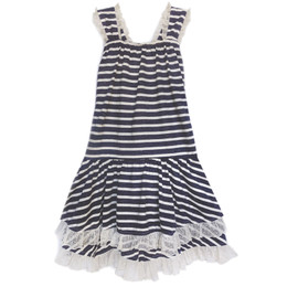 Isobella & Chloe Ginny Knit Dress - Navy Stripe