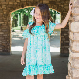 Isobella & Chloe Sweet Mint Shoulder Tie Dress - Green