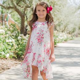 Isobella & Chloe Petaled Pink Hi/Lo Dress - White