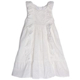 Isobella & Chloe Cotton Clouds Dress - White