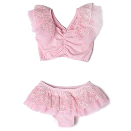 Isobella & Chloe Maddie 2pc Swimsuit - Pearl Pink