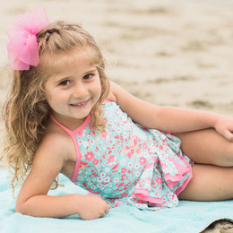 Isobella & Chloe Brianna 2pc Tankini Swimsuit - Sage
