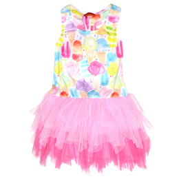 Kate Mack Ice Cream Social Tutu Dress - Multi