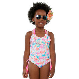 Kate Mack Paradise Island 1pc Ruffle Swimsuit - Multi