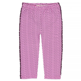 Deux Par Deux Gather Thistles, Expect Prickles Capri Legging - Pink Print