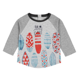 Deux Par Deux All Aboard, Matey Printed Tee - Surfboards