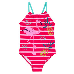 Deux Par Deux Splish Splash 1pc Swimsuit - Flamingo