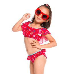 Deux Par Deux Splish Splash 2pc Swimsuit - Flamingo