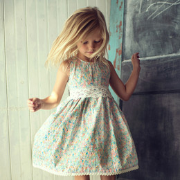 Little Prim  Into The Clouds Ella Dress - Floral