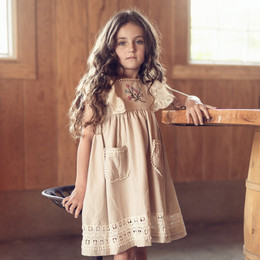 Little Prim  Into The Clouds Astrid Dress - Linen