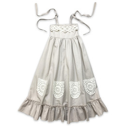 Little Prim  Into The Clouds Ireland Maxi Dress - Linen