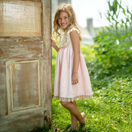 Mustard Pie  Special Occasion Angel Dress - Blush