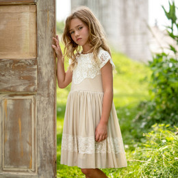Mustard Pie  Special Occasion Ellie Dress - Bisque