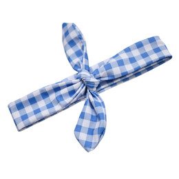 Blueberry Bay Swim Headwrap - Blue Check