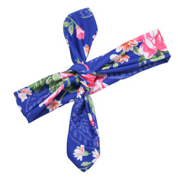 Blueberry Bay Swim Headwrap - Blue Floral