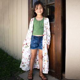 Jak & Peppar  Fair Isle Gypsy Gene Maxi Jacket - Floral