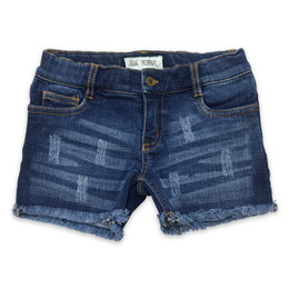 Jak & Peppar  Fair Isle Jak Cutoffs - Medium Wash