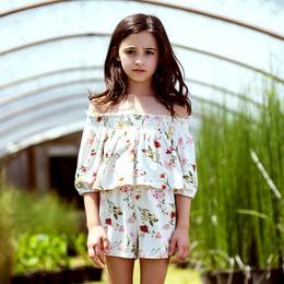 Jak & Peppar  Fair Isle Chloe Romper - Floral