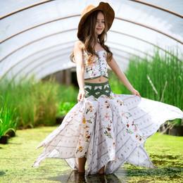Jak & Peppar  Fair Isle Coronado Skirt - Floral