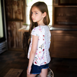 Jak & Peppar  Fair Isle Buttercup Top - Floral