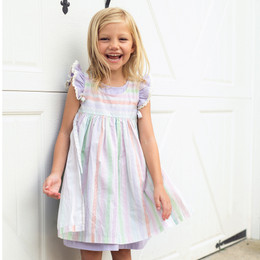 Little Prim  Farm Fresh Eva Apron - Multi Stripe (*Violet Dress Sold Separately*)