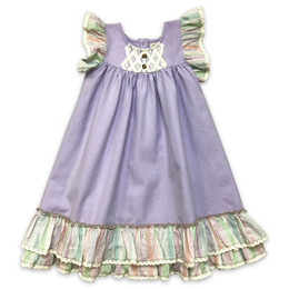 Little Prim  Farm Fresh Genevieve Dress - Lavender