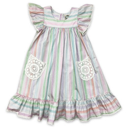 Little Prim  Farm Fresh Ryan Dress - Multi Stripe