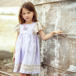 Little Prim  Farm Fresh Astrid Dress - Lavender
