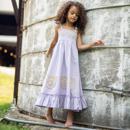 Little Prim  Farm Fresh Ireland Maxi Dress - Lavender