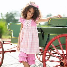 Little Prim Magenta Sky Adelaide Dress - Poppy
