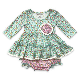 Mustard Pie  Rustic Peony Lucy 2pc Dress & Bloomer Set (*New Style!*)