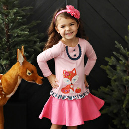 Lemon Loves Lime Autumn Fox Dress - Rose Shadow