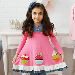 Lemon Loves Lime Cupcake Festive Dress - Pink Lemonade