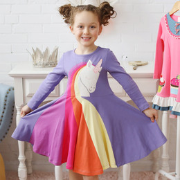 Lemon Loves Lime Rainbow Unicorn Dress - Multi