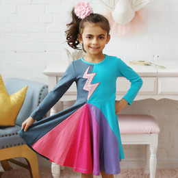 Lemon Loves Lime Speed Girl Dress - Multi