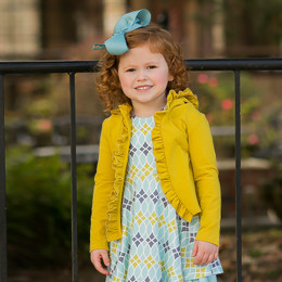 Evie's Closet Ruffled Hooded Jacket - Mustard
